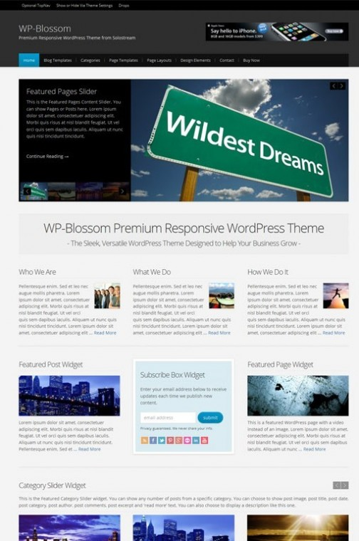 WP-Blossom-WordPress-Theme-solostream themes