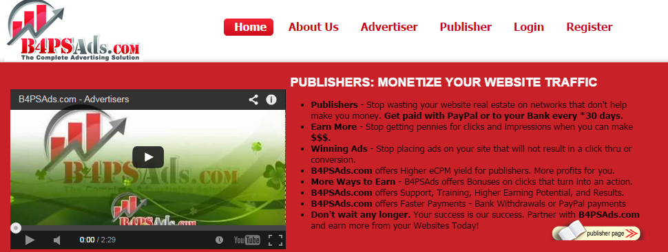 B4PSAds.com Pay Per Click Advertising Network