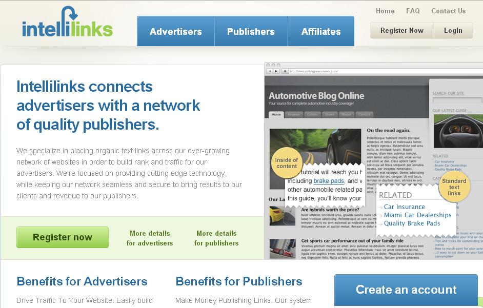 Intellilinks adsense alternative