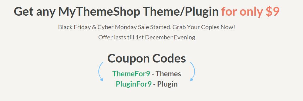 Black Friday Cyber Monday Sale MyThemeShop