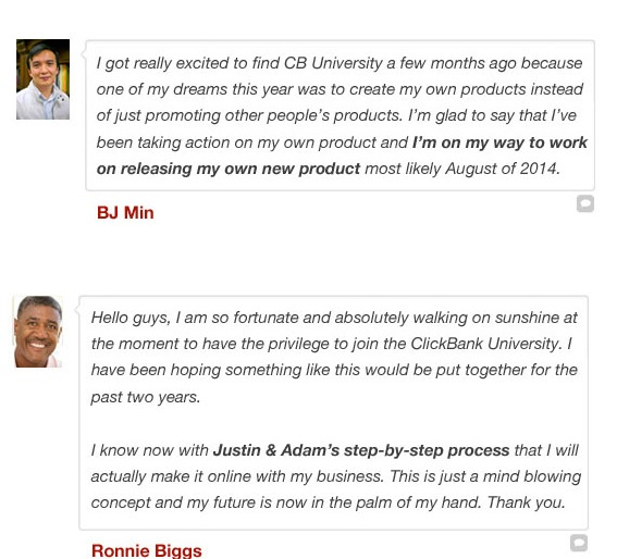 Clickbank University Review Testimonials 2