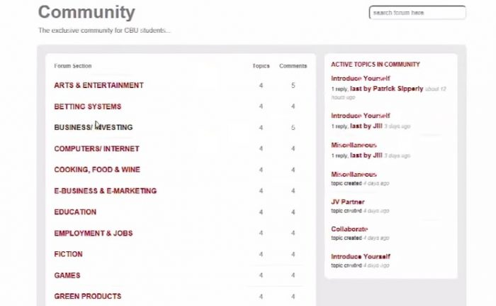 clickbank university review member areas community