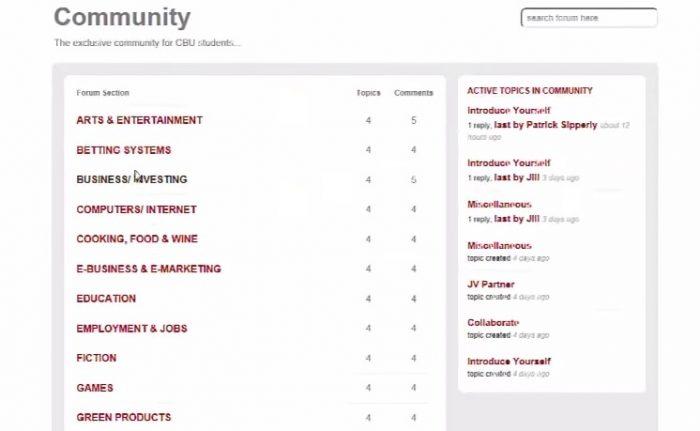 clickbank university review member areas community