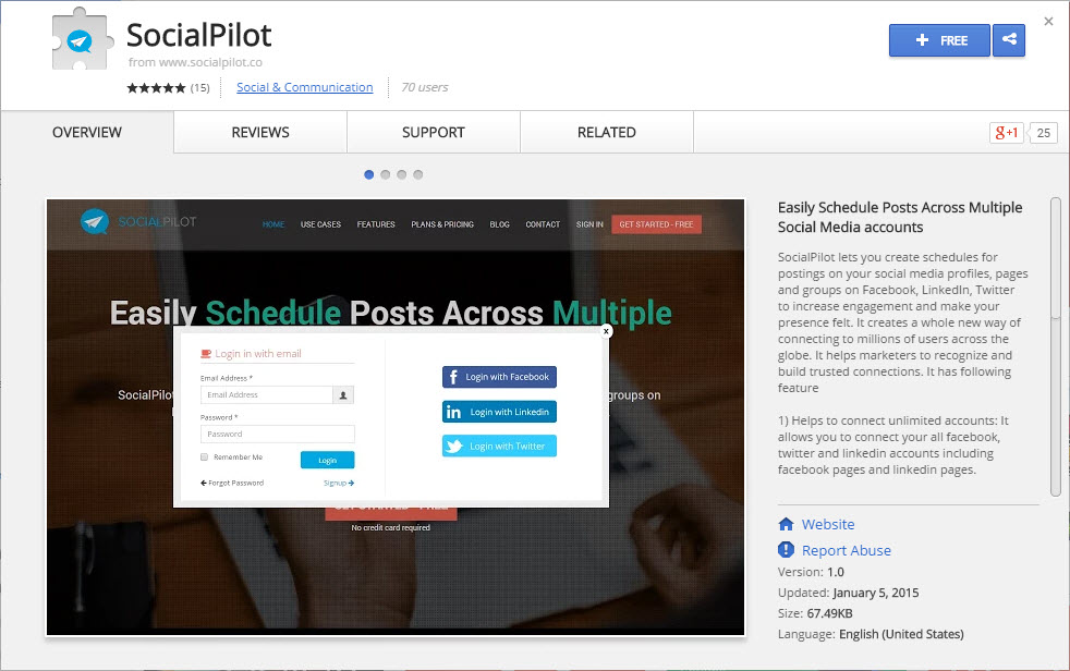 socialpilot chrome