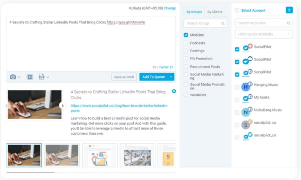 SocialPilot Review-Connect social media accounts