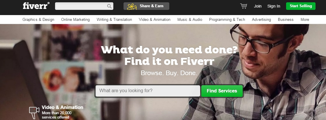 Fiverr Make Money Online from Home