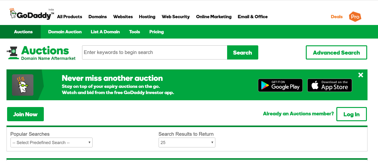 godaddy-domain-auction-buy-sell-distinctive-domains