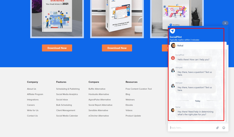 SocialPilot Review-Social Pilot customer support team