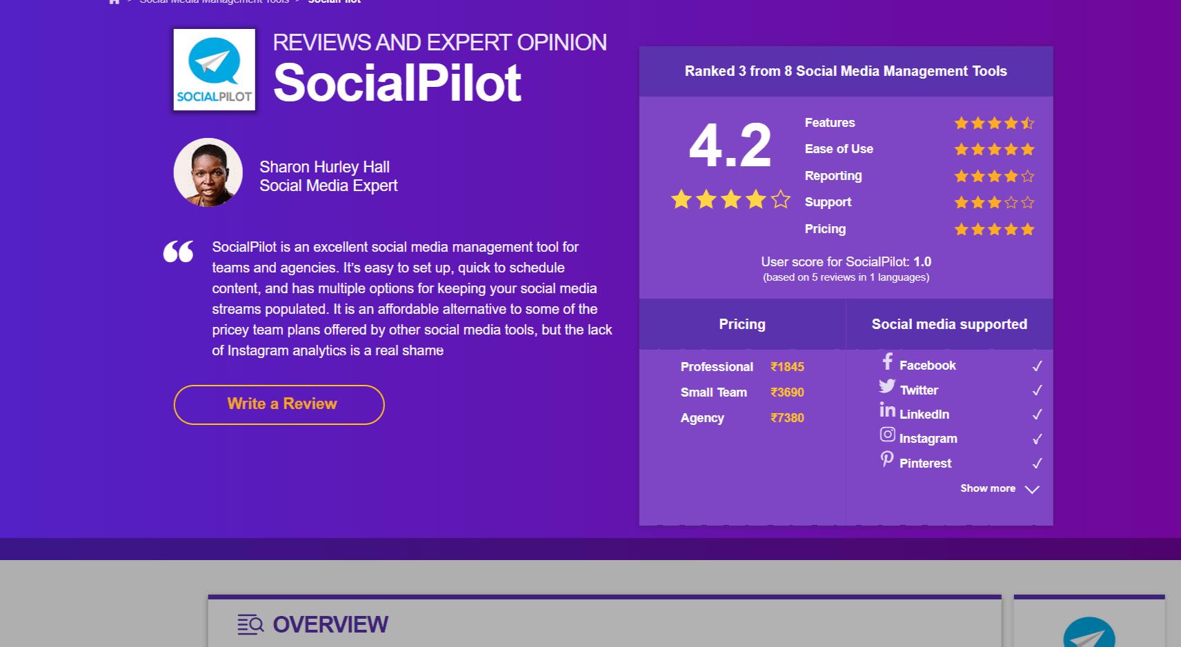 SocialPilot Review- Testimonials