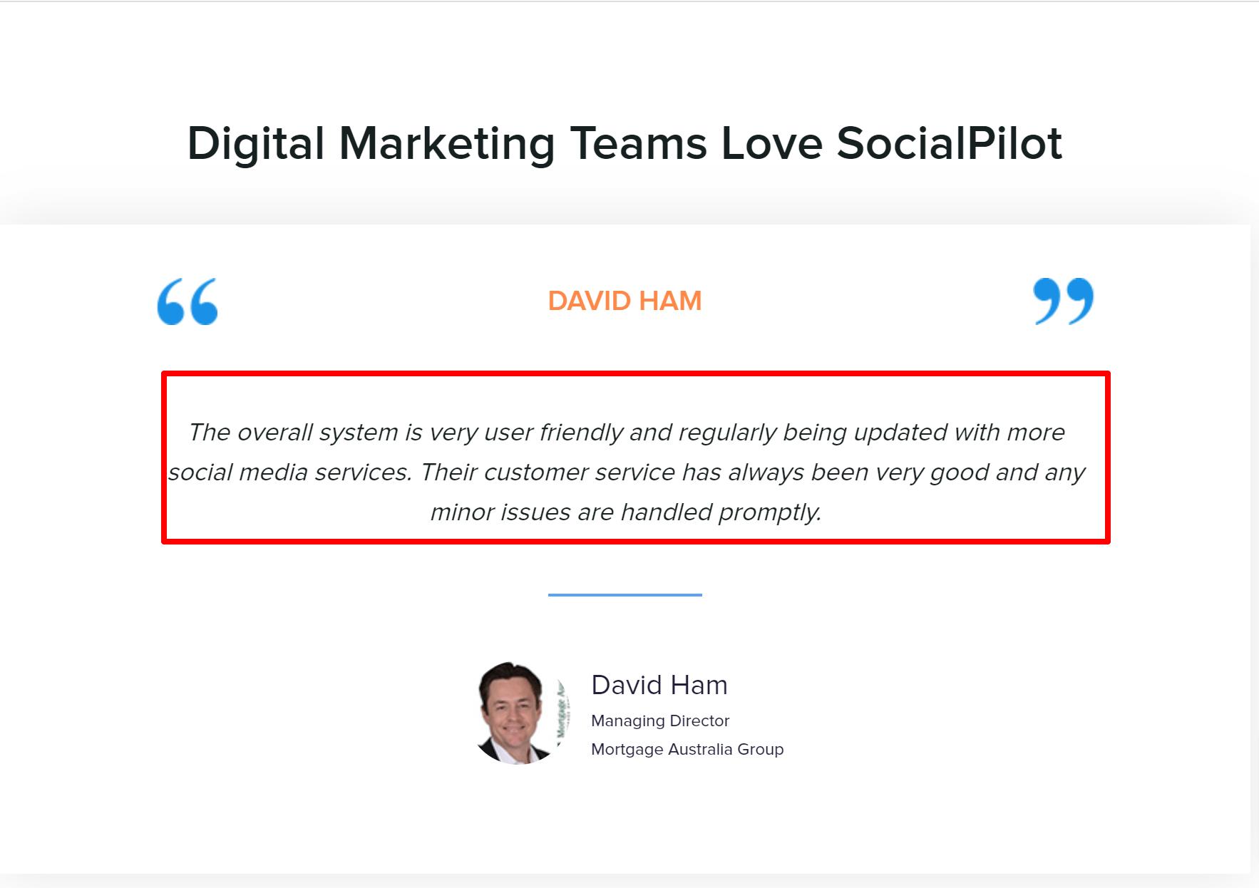 SocialPilot customer reviews