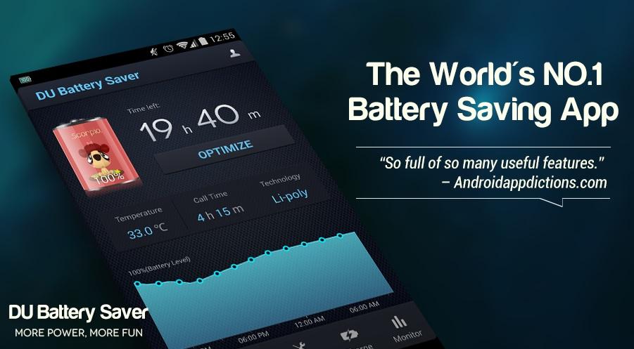 DU Battery saver battery best saving app