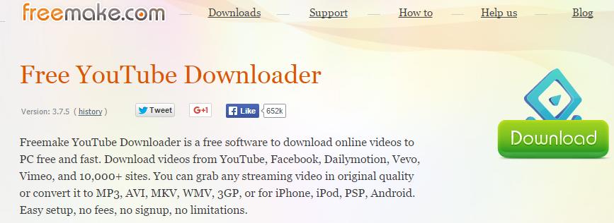 Freemake Free Video Downloader