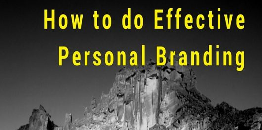 How to do Effective Personal Branding