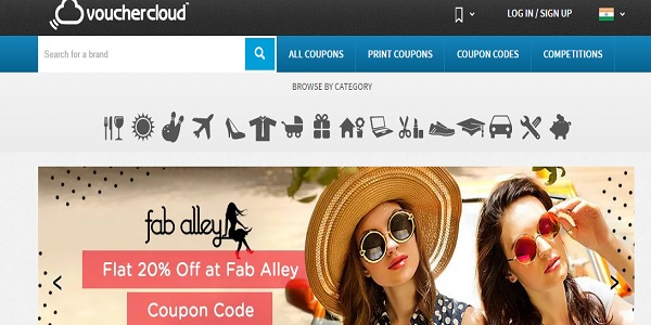 vouchercloud coupon site