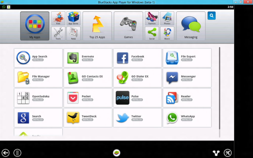 Bluestacks Whatsapp downloader
