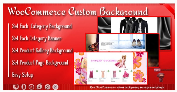 Custom Background and Banner for WooCommerce