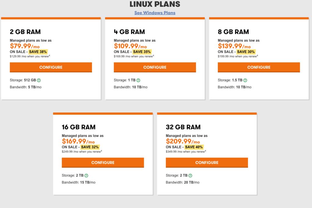 Godaddy Dedicated Server Hosting Linux