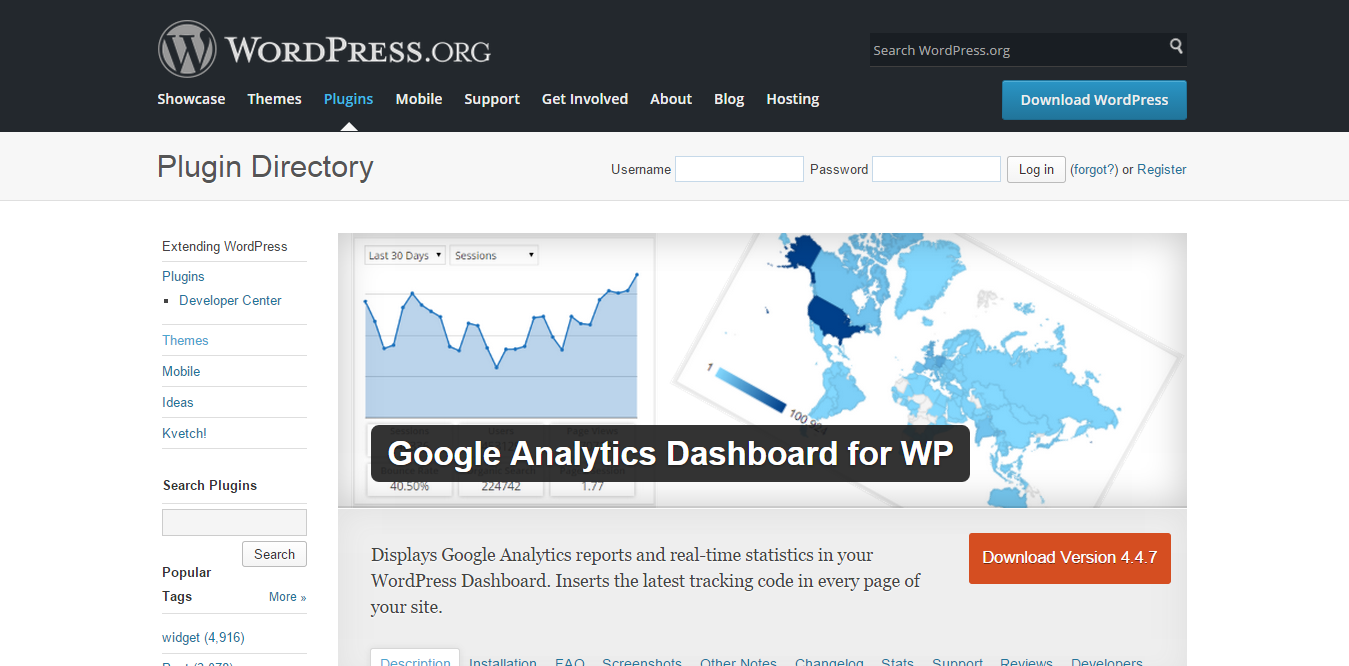 谷歌Analytics(分析)为WordPress