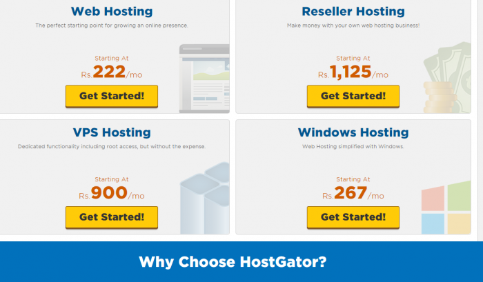 HostGator hosting Promo Code - Plans India