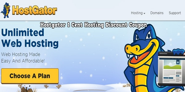 Hostgator 1 Cent Hosting Discount Coupon