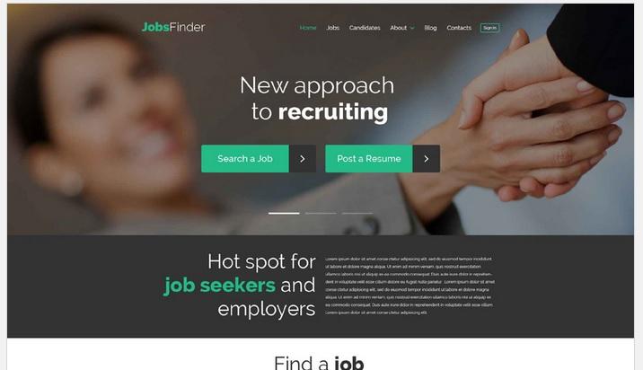 Job Recruiting WordPress Site