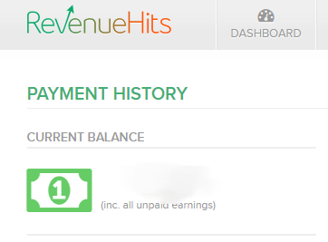 RevenueHits Check your earnings