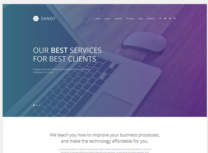 Sandy Design Responsive WordPress Site