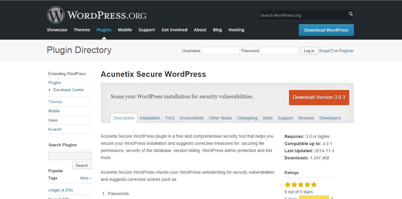 Secure WordPress Plugin