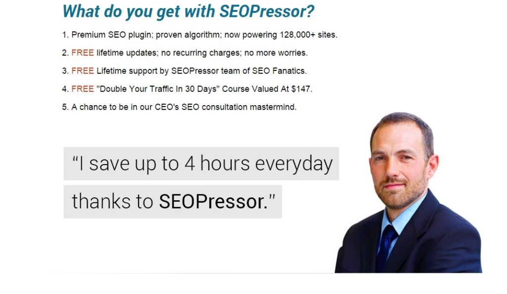 What do you get with SEOPressor