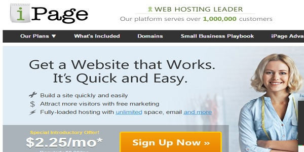 ipage hosting review - website builders india
