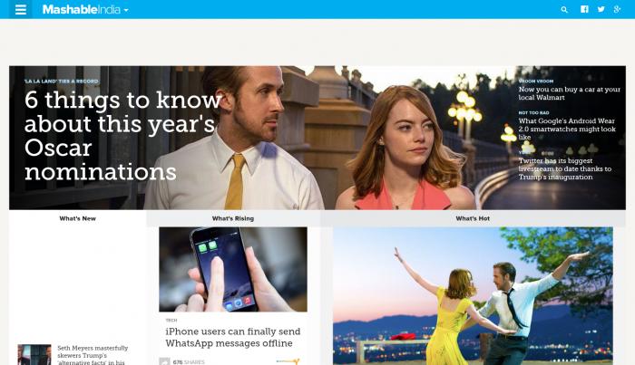 Mashable best tech news site
