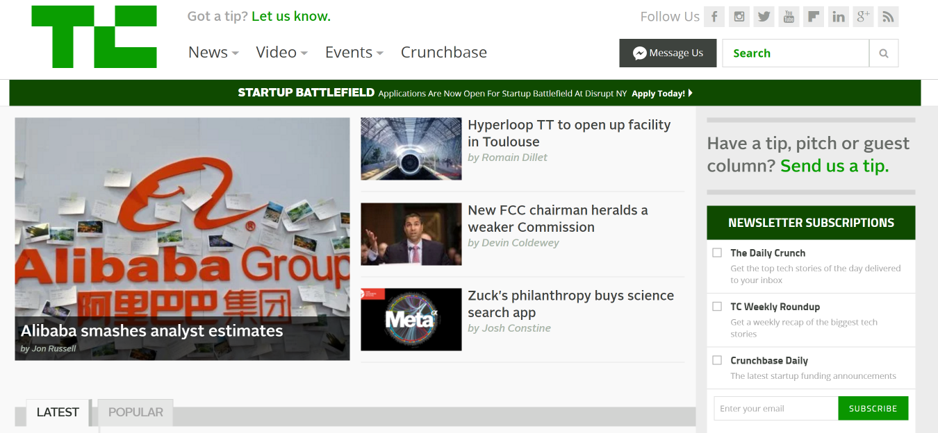 TechCrunch The latest technology news and information on startups