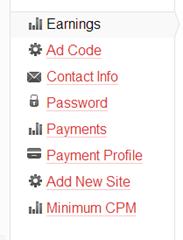MadAdsMedia dashboard links
