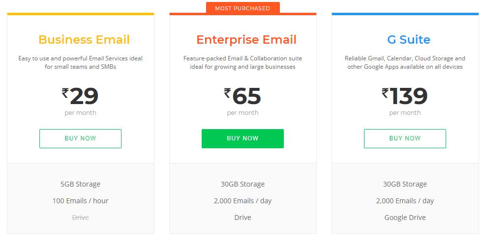 promo codes for bigrock hosting- email hosting