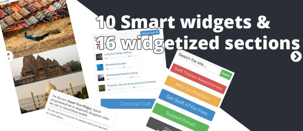 swiftthemes features widgets