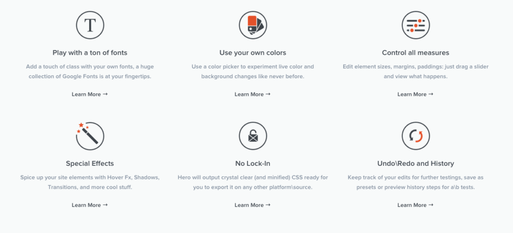 CSS Hero features Customize WordPress Themes Live Visual CSS Editor