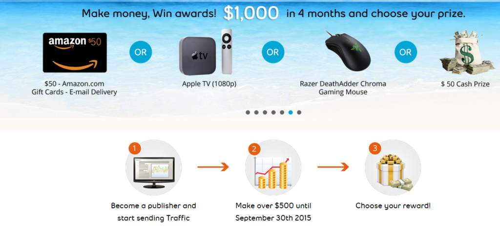 RevenueHits Summer Contest 2015 Prizes