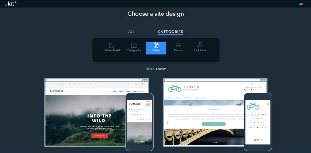 Website Builder for Business ukit features