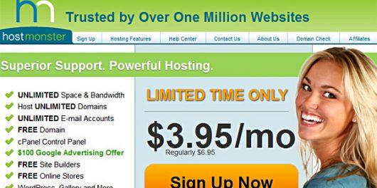 hostmonster hosting