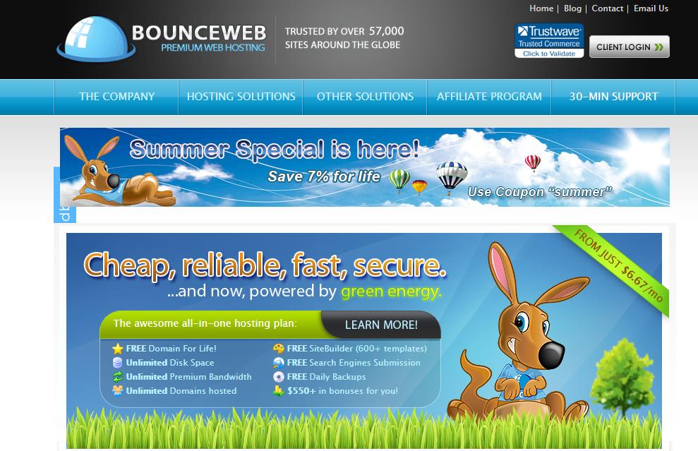 Bounce web Green Web Hosting cPanel Shared Hosting Reseller Hosting
