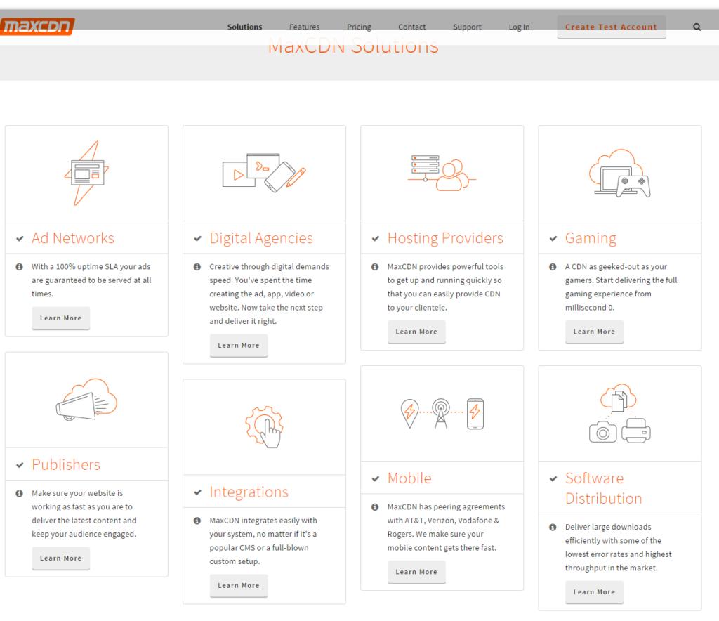 CDN Solutions by MaxCDN