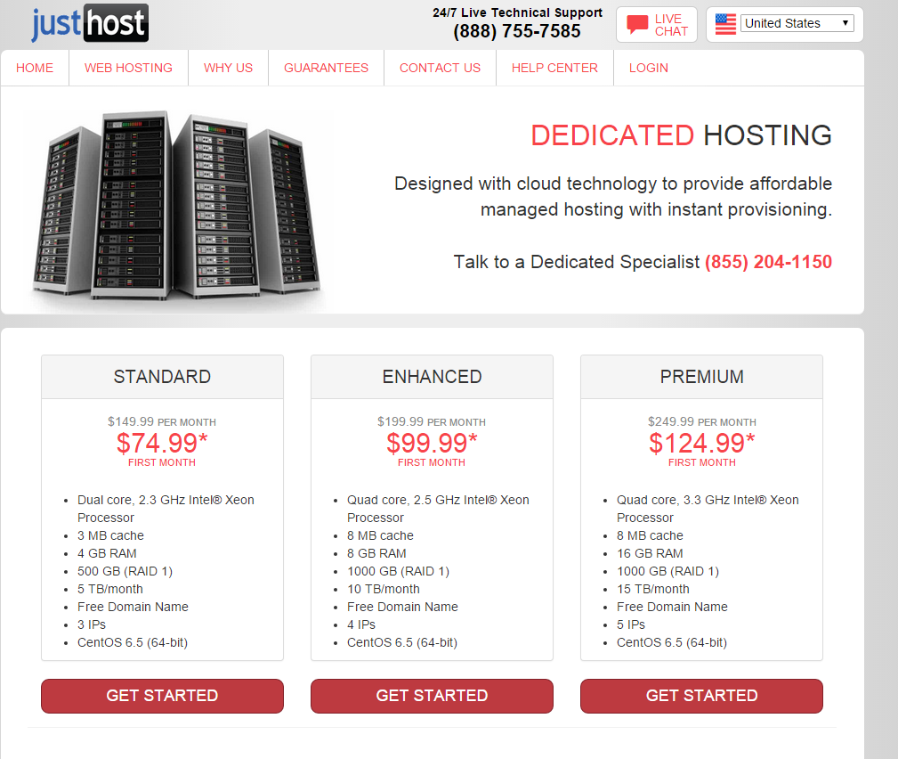 Dedicated Hosting Just Host Coupon