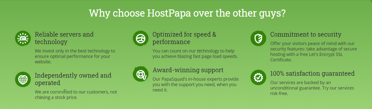 Features in detail- Hostpapa Review