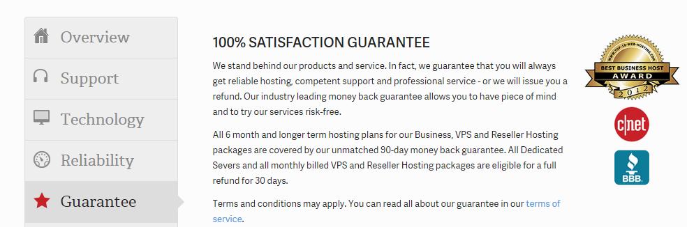 InMotion Hosting Review- Meet Us Guarantee