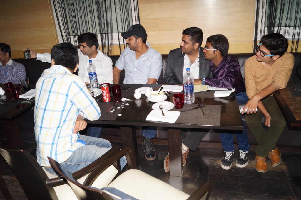 Payoneer Networking Dinner Delhi july 10th 2015 India  discussion