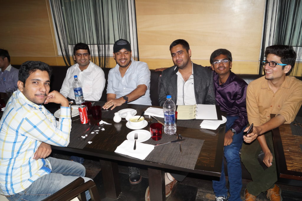 Payoneer networking dinner delhi 2015 with bloggers and makreters