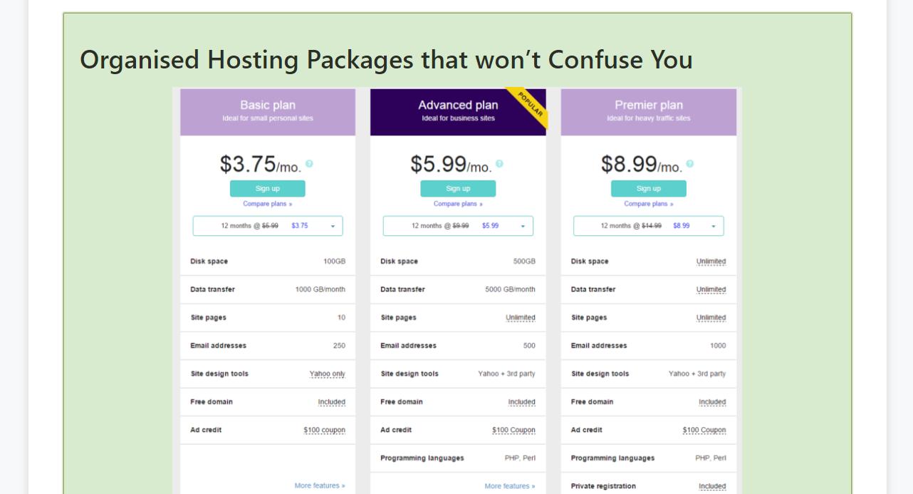 Pricing Hostpapa Review
