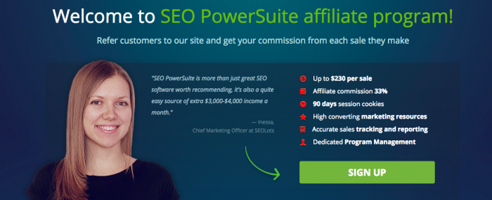 SEOpowersuite affiliate program