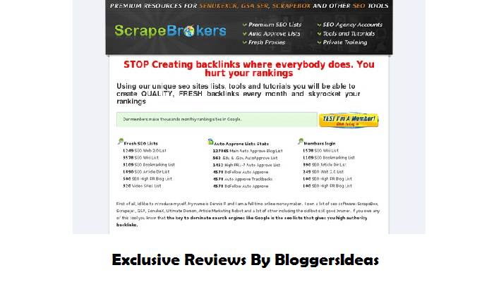 ScrapeBrokers Review - best seo software