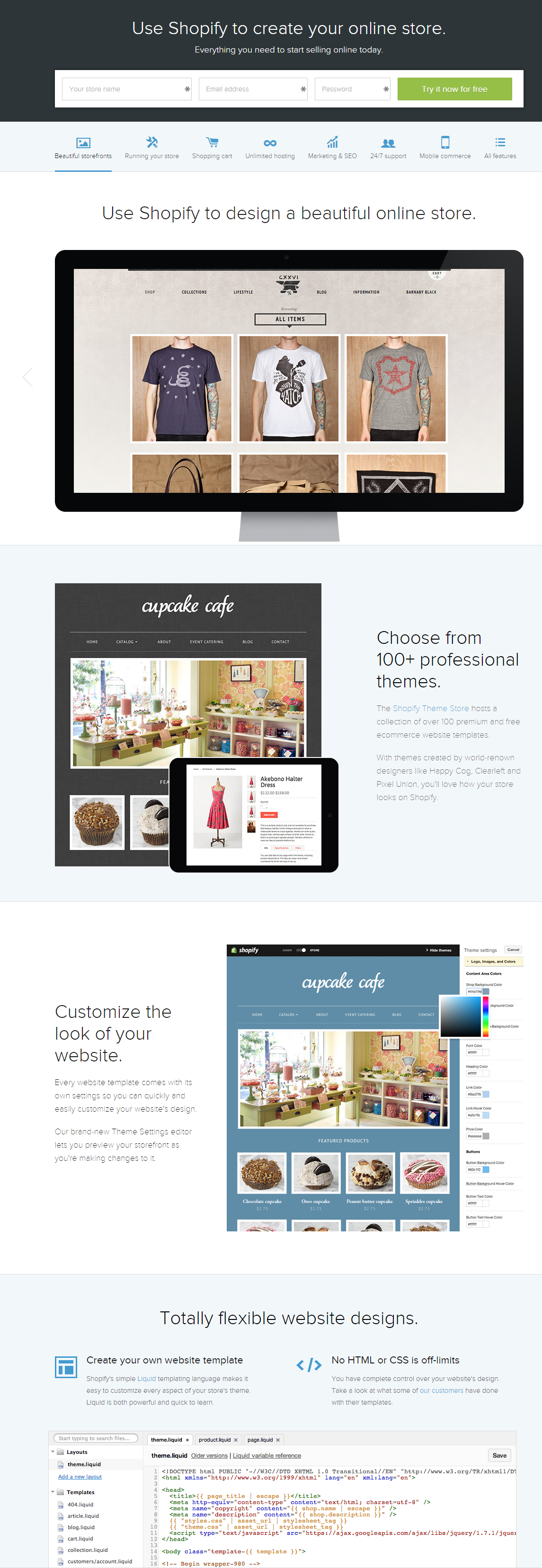 Shopify Best Website Templates